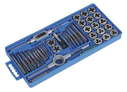 METRIC Tap and Die Set 40 Piece w/Case Tapping Threading Chasing Repair,Jikkolumlukka from Jikkolumlukka