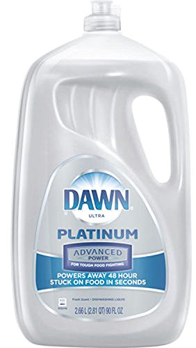 (Dawn Ultra Platinum Advanced Power Dishwashing Liquid, Fresh Scent, 90 Ounce)