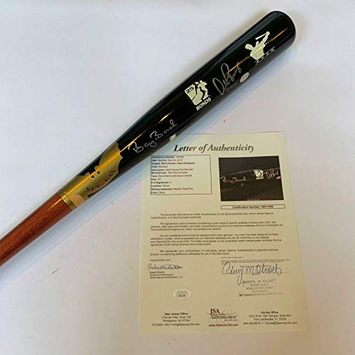 (Stunning Barry Bonds & Alex Rodriguez Signed Game Model SAM Bat With COA - JSA Certified - Autographed MLB Bats)