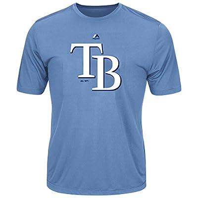 Youth MLB Geo Strike Cool Base Tee (Youth Medium 10/12, Tampa Bay Rays)