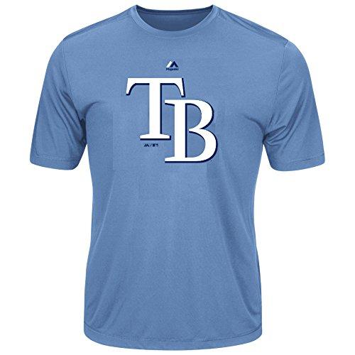 Youth MLB Geo Strike Cool Base Tee (Youth - Tampa Bay Rays Jacket