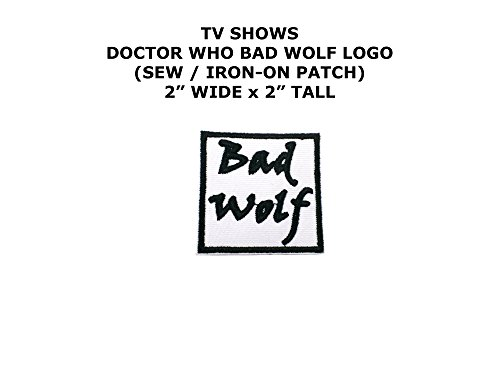 Bad Wolf Doctor Who TV Show DIY Embroidered Sew or Iron-on Applique Patch Outlander (Bad Wolf Dr Who Costume)