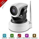 NEXGADGET Cámara IP de Seguridad HD WiFi Vigilancia USB Puerto de Carga Detección Movimiento Visión Nocturna Interior P2P Compatible iOS Android (Nueva Versión)