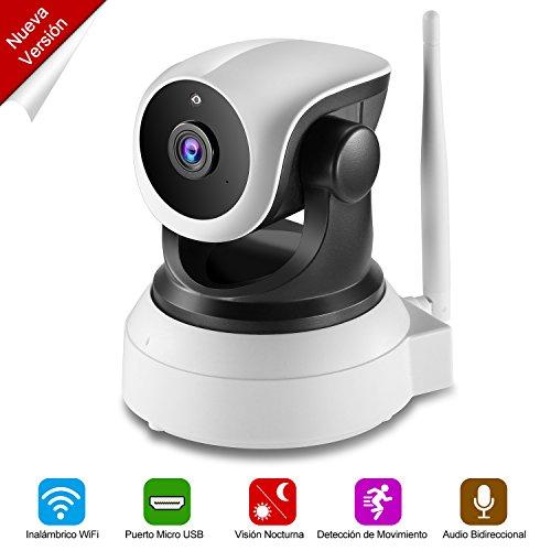 NEXGADGET Cámara IP de Seguridad HD WiFi Vigilancia USB Puerto de Carga Detección Movimiento Visión Nocturna Interior P2P...
