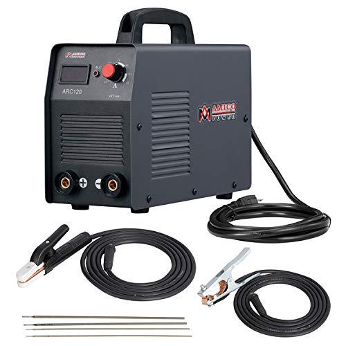 Amico 120 Amp Stick ARC DC Inverter Welder, IGBT Digital Display LCD 110-Volt Welding Soldering Machine, ARC-120