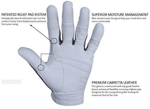 Bionic Gloves – Men's PerformanceGrip Pro Premium Golf Glove made from Long Lasting, Genuine Cabretta Leather Photo #3