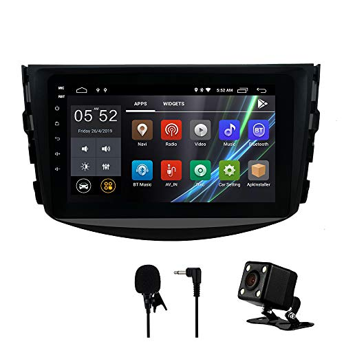 SWTNVIN Car Stereo for Toyota RAV4 2006 2007 2008 2009 2010 2011 2012,Android Double Din 8 inch HD Car Audio with 2G RAM 16G ROM,Support WiFi BT GPS Steering Wheel,Free Backup Camera Microphone