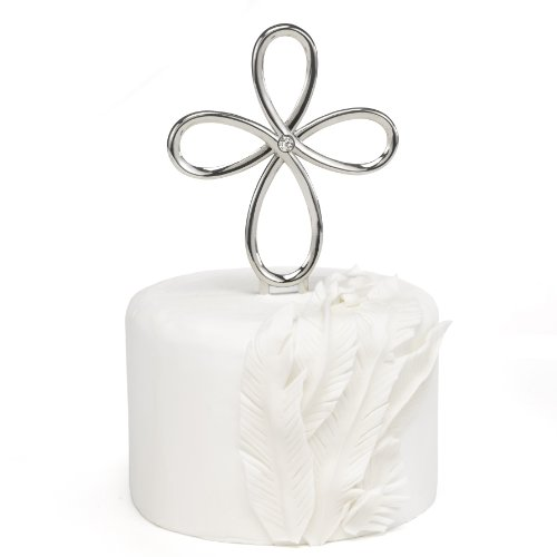 Wedding Cake Pick (Hortense B. Hewitt Looped Cross Cake Pick Wedding Accessories)