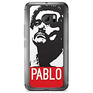 HTC 10 Transparent Edge Case Narcos Pablo