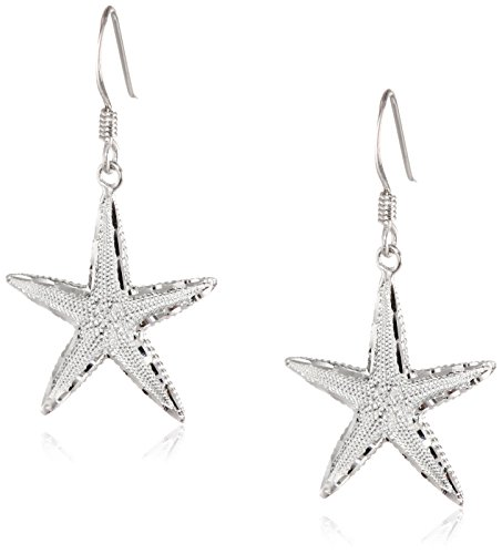 Sterling Silver Diamond Starfish Earrings