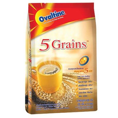 Cereal Beverage - Ovaltine 5 Grains Instant Malt Cereal Beverage (28g.x15 Packs) - Product of Thailand