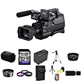 Sony HXRMC2000U Shoulder Mount AVCHD Camcorder + Wide Angle Lens + 2x Telephoto Lens + 32GB SDHC Class 10 Memory Card + Extra NP-FP970L Battery + 37mm 3 Piece Filter Kit + Full Size Tripod + Deluxe Extra Large Video Bag + Lithium Ion External Rapid Batter