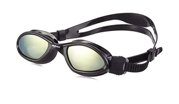 Smoke Mirrored Lenses Head Superflex Mid Swimming Goggles Black