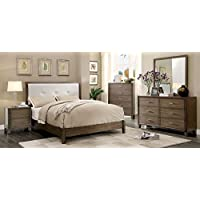 Furniture of America CM7068GY-N Enrico I Gray Nightstand, 24 H