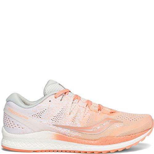 Saucony Women's Freedom ISO 2 Running Shoe, Peach/White, 6.5 M US ()