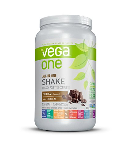 Vega One All-In-One Plant Based Protein Powder, Chocolate, 1.93 lb (19 Servings), Packaging may vary