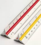 Dream Xplore® Triangle Scale Ruler, 30 cm/12-inch Long Plastic Straight Measuring Tool for Architects, Engineers, School/College Students, Office Employee