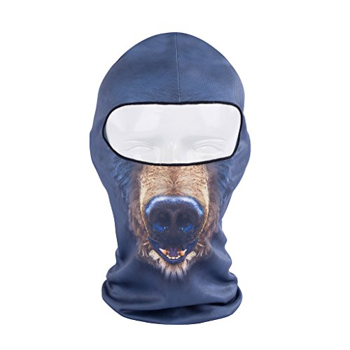 ECYC® Full Face Mask Fashion Novelty Balaclava Fleece Face Masks [ Blue Dog ]