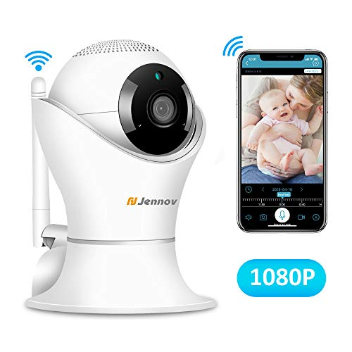 Jennov Mini Wireless 1080P IP HD Security Camera WiFi Home Indoor Surveillance for Baby/Elder/Pet/Nanny Monitor, Pan/Tilt, Two-Way Audio & Night Vision & Motion Detection Alert,Loop Record