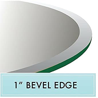 Amazoncom 60 Round Tempered Glass Table Top 12 Thick 1 Beveled
