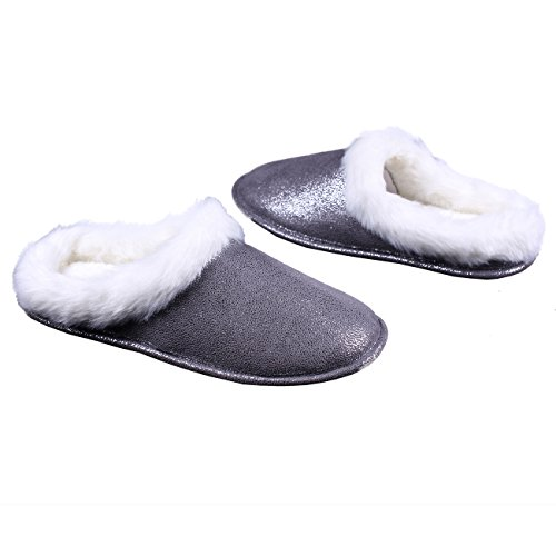 OFOOT Chaussons Gris Chaussons femme pour OFOOT U8WPPnx