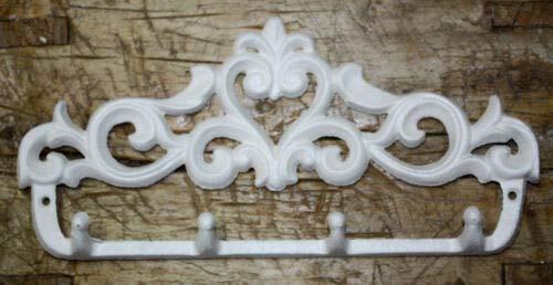 Vintage Antique Hooks Cast Iron Victorian Style Towel Coat Hooks Hat Hook Key Rack Rustic Heart 4 Hook