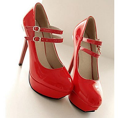 Nubukleder Schwarz black Beige cm Frühling LvYuan 12 Herbst Damen Heels High PU Normal 10 Rot Komfort ggx Komfort fTXqP