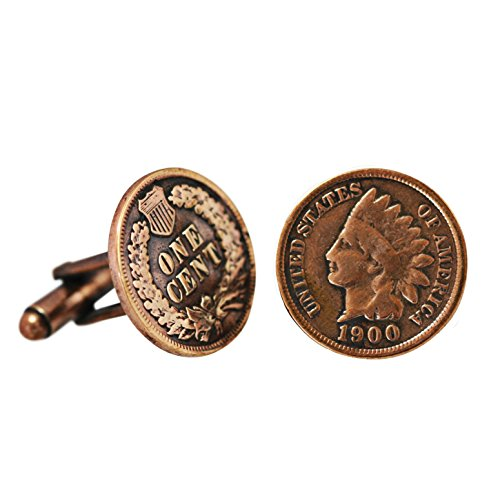 American Coin Treasures Copper Indian Head Penny Cuff Links