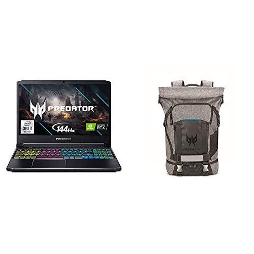 Acer Predator Helios 300 Gaming Laptop with Predator Rolltop Gaming Backpack
