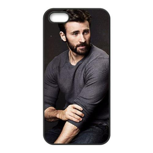Chris Evans 001 coque iPhone 4 4S cellulaire cas coque de téléphone cas téléphone cellulaire noir couvercle EEEXLKNBC24187
