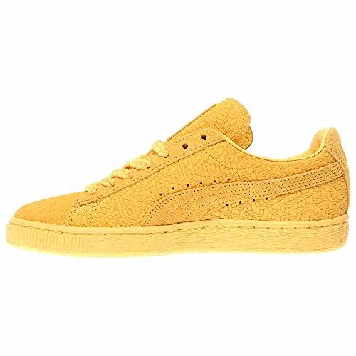 Puma Kvinners Semsket Klassiske Vevde Wns Sneaker Snapdragon / Lag Gull
