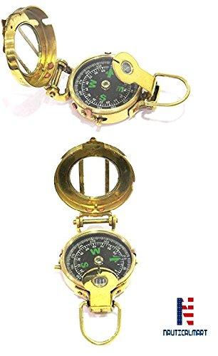"NAUTICALMART Vintage Military Navigational Marine真鍮コンパス3 ""ポケットコンパス B07CG5Z4GF"