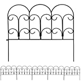 Sunnydaze 5-Panel Victorian Border Fence Set