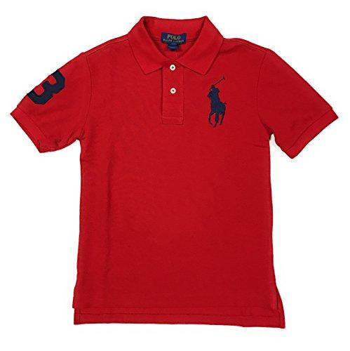 Polo Ralph Lauren Boys Big Pony Logo Polo Shirt (L (14-16), RL 2000 Red Navy Pony)