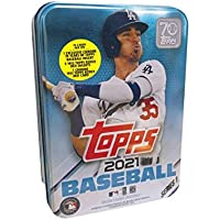 $21 » 2021 Topps Series 1 MLB Baseball Tin (75 cards/bx, Bellinger)