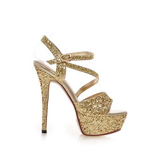 1TO9 - Sandalias de vestir para mujer dorado