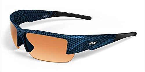 2017 Maxx Sunglasses TR90 Maxx Stealth 2.0 HD Blue Carbon Amber - Sunglasses Maxx