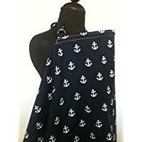 Nursing Cover, Breast feeding Cover, Navy Anchor Nursing cover