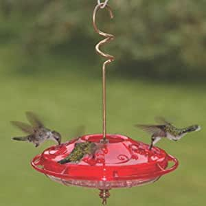 Hummzinger Fancy Hummingbird Feeder Color: Red