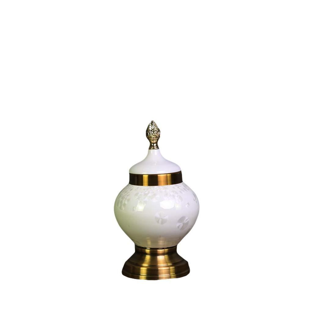 MAHONGQING 花瓶ヨーロッパの家の装飾の装飾品セラミック花瓶シミュレーション花の別荘ソフト装飾デスクトップの装飾 (Size : S) B07RRSJCFH  Small