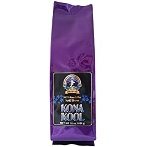 Mountain Thunder Coffee Plantation Award-Winning, Premium 100% Kona Kool Kold Brew Coffee - Cold Brew, Coarse Ground (1 pound)