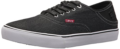 Levi's Men's Monterey Denim Sneaker, Black, 13 M US
