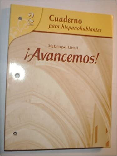 Avancemos cuaderno para hispanohablantes student level 2 avancemos cuaderno para hispanohablantes student level 2 spanish edition mcdougal littel 9780618765997 amazon books fandeluxe Choice Image