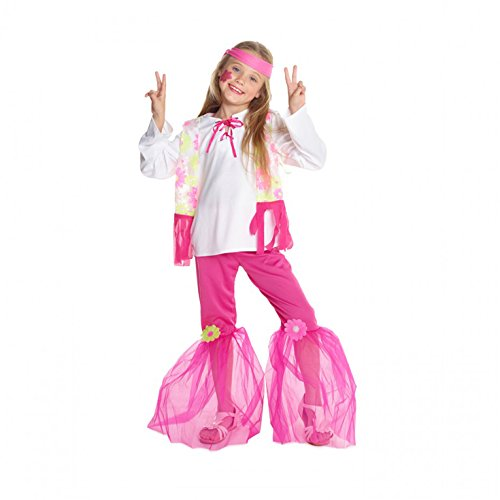 Morph Girls Flower Power Hippie Costume, Pink, -