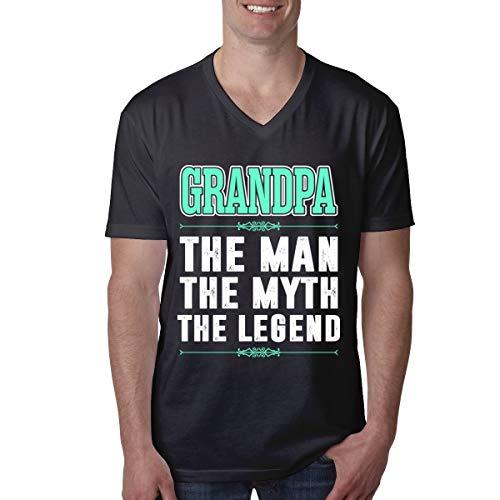 Grandpa The Man The Myth The Legend V-Neck Short Sleeve Tshirt for Men