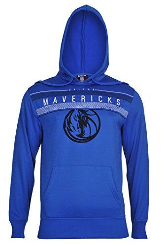 fan products of NBA Men's Dallas Mavericks Fleece Hoodie Pullover Sweatshirt Poly Midtown, Medium, Blue
