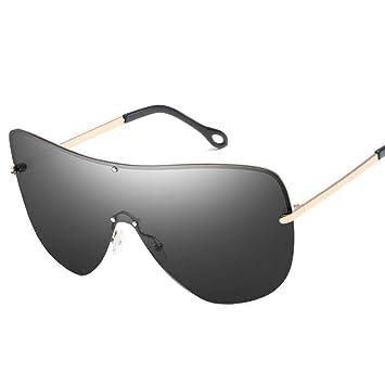 ZHENCHENYZ Hombres de Gran tamaño Gafas de Sol polarizadas ...