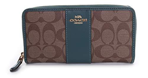 Coach Women's Accordion Wallet No Size (IM/Khaki-Dark Turquoise)