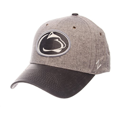 Lions Nittany State Brass Penn - ZHATS NCAA Penn State Nittany Lions Adult Men The Supreme Cap, Adjustable, Gray
