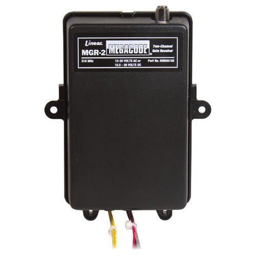 Linear MGR 2 MegaCode 2 Channel Gate Receiver 318MHz by Linear